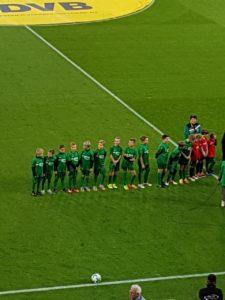 Einlaufkinder Dynamo Dresden am 20092017